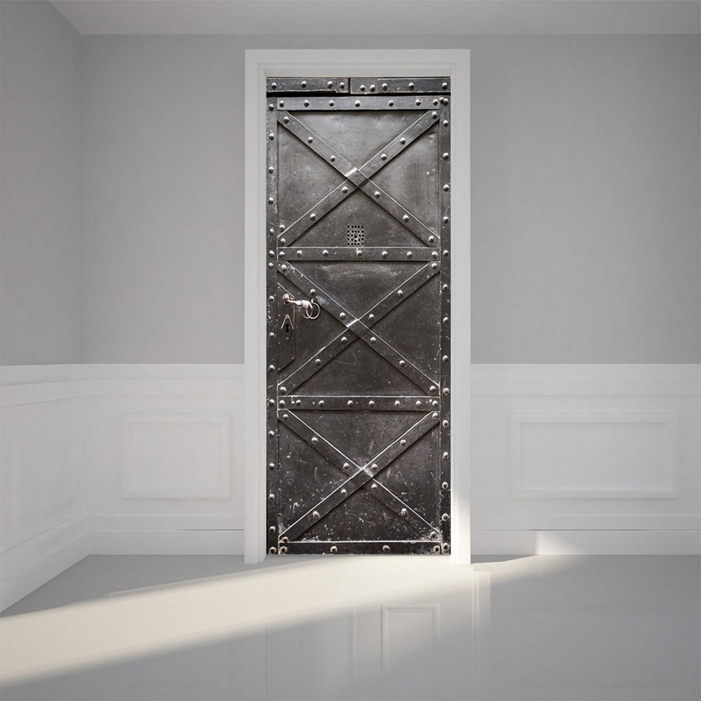 Metal Safe // Door Mural & Metal Safe // Door Mural - Self Adhesive Door Murals - Touch of Modern