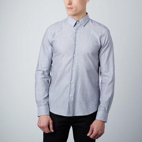 Geometry Cuff Button-Up Shirt // Grey
