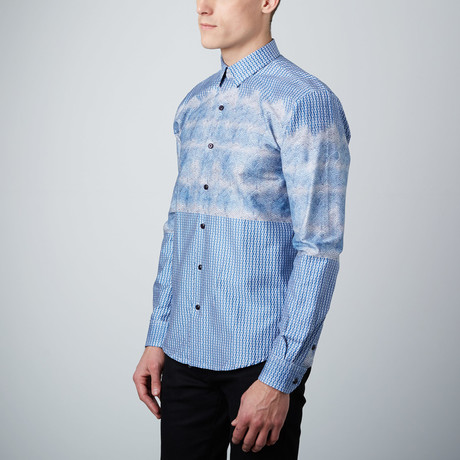 High Tide Button-Up Shirt // Blue