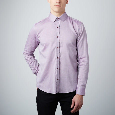 Cluster Cuff Button-Up Shirt // Lavender