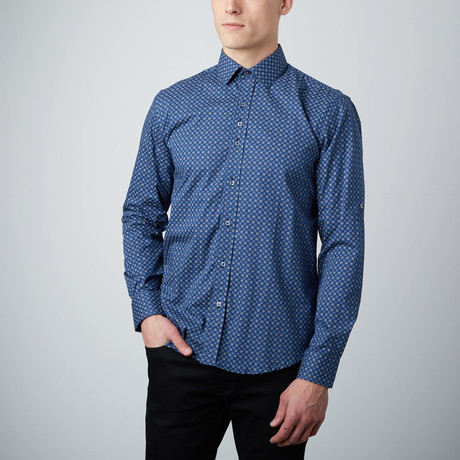 Seeing Spots Button-Up Shirt // Blue