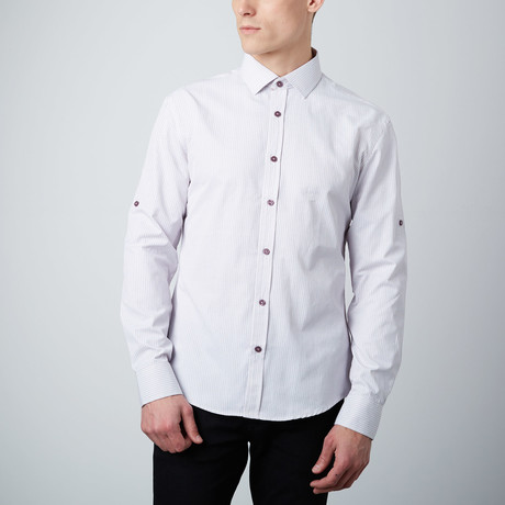 Microcircles Button-Up Shirt // Lavender
