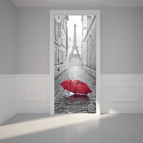 Eiffel Tower Umbrella // Door Mural