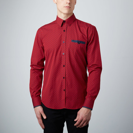 Target Button-Up Shirt // Red