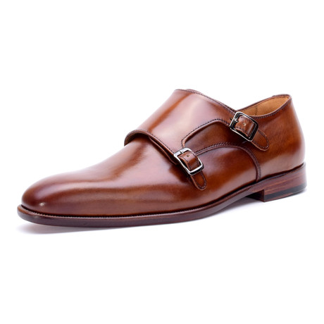 Bryan Double Monkstrap // Cognac