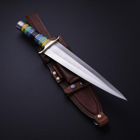 D2 Arkansas Toothpick Turquoise Dagger
