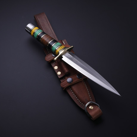 D2 Arkansas Toothpick Turquoise + Horn Dagger