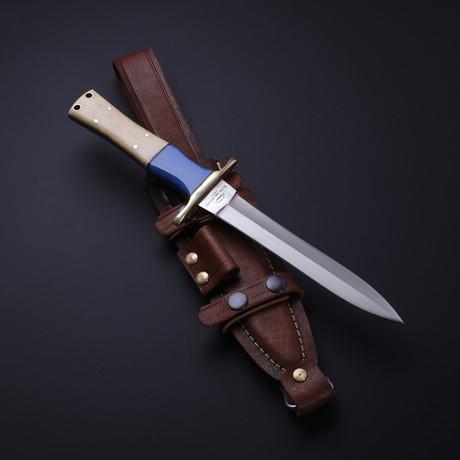 D2 Pugio Blue Lapis + Bone Stiletto Dagger
