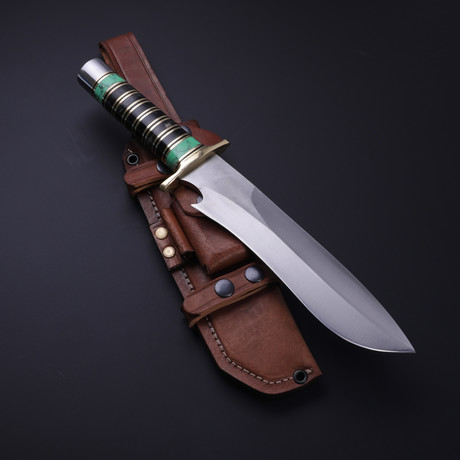 D2 Bigfoot Buffalo Horn + Turquoise Bowie