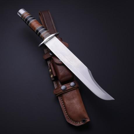 D2 KOA Wood + Buffalo Horn + Leather Bowie