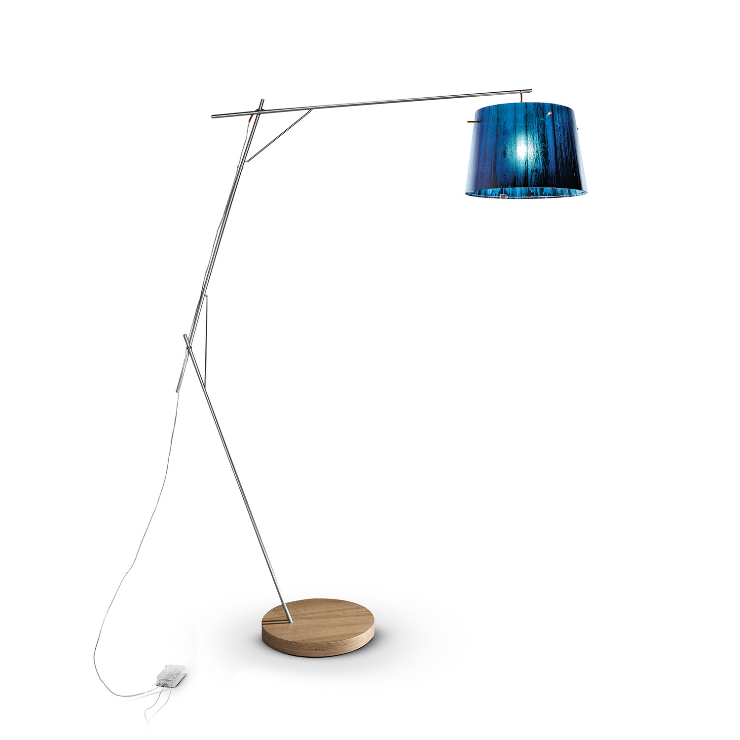 Woody floor lamp blue slamp touch of modern for Floor lamp woodies