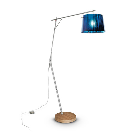Woody Floor Lamp // Blue
