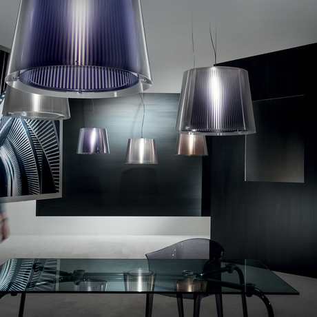 Liza Suspension Lamp (Purple)