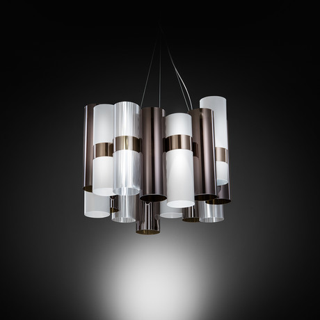 La Lollo Suspension Lamp (Peltro + White)