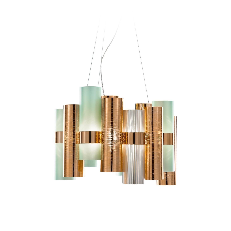 La lollo suspension lamp slamp touch of modern for Suspension a 3 lampes