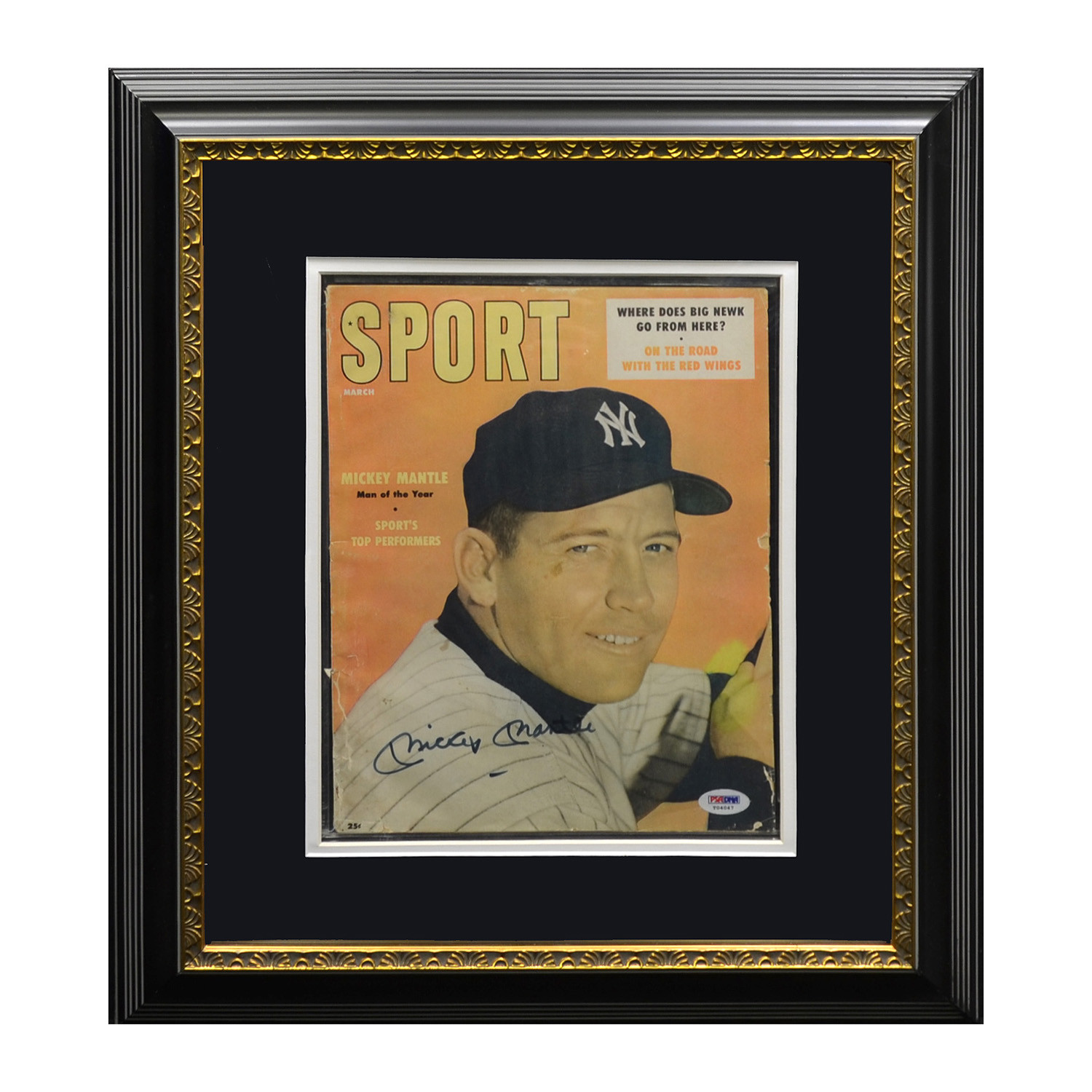 Mickey Mantle Signed 1957 Sport Magazine