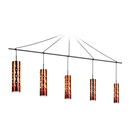 Dimple Suspension Lamp // Penta (Orange)