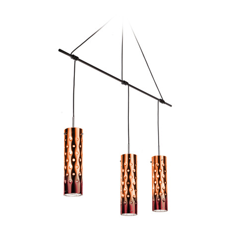 Dimple Suspension Lamp // Trio (Emerald)
