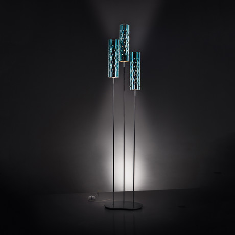 Dimple Floor Lamp // Trio (Emerald)