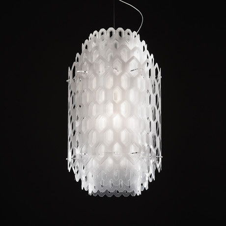 Chantal Suspension Lamp // White (Large)