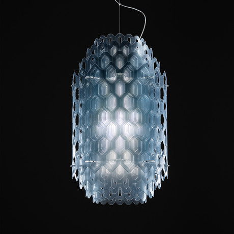 Chantal Suspension Lamp // Blue (Large)