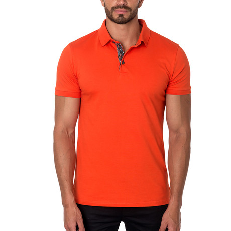 Short-Sleeve Polo // Orange (S)