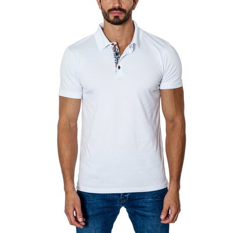 Short-Sleeve Polo // White