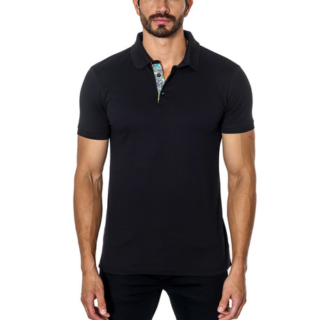 Short-Sleeve Polo // Black (S)