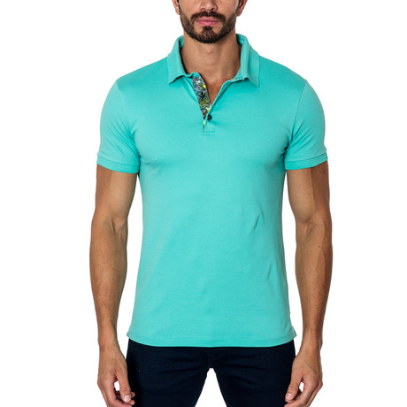Short-Sleeve Polo // Turquoise (S)