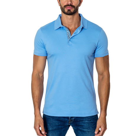 Short-Sleeve Polo // Light Blue