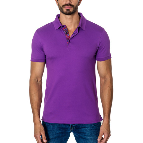 Short-Sleeve Polo // Purple (S)