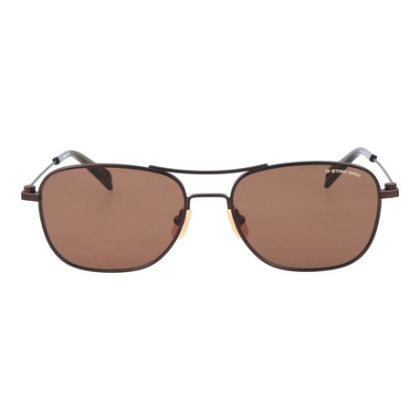 Huber Sunglass // Brown Semi Matte