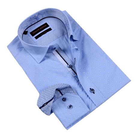 Daisy Field Button-Up Shirt // Blue (S)