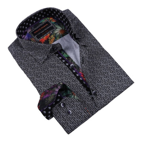 Galaxy Cuff Button-Up Shirt // Black