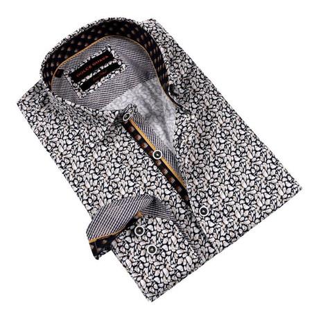 Mosaic Button-Up Shirt // Navy (S)