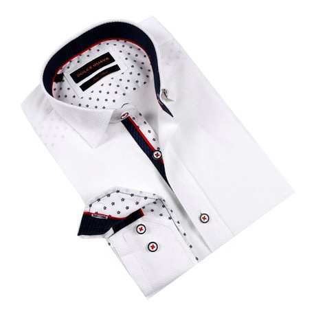 Daisy Cuff Button-Up Shirt // White