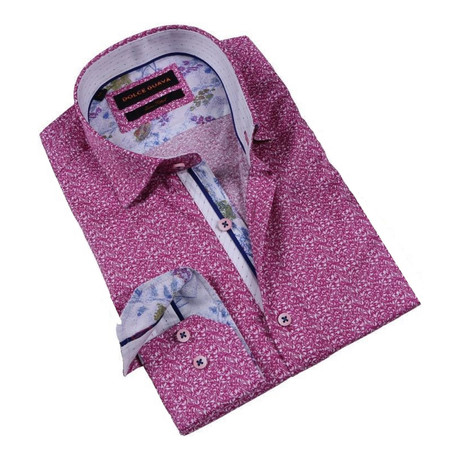 Pollock Cuff Button-Up Shirt // Fuchsia!