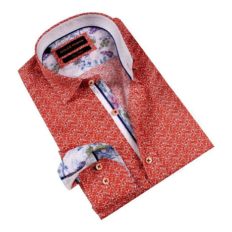 Pollock Cuff Button-Up Shirt // Orange