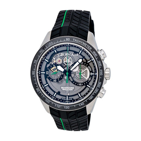 Graham Silverstone RS Skeleton Chronograph Automatic // 2STAC2.B01A // Store Display