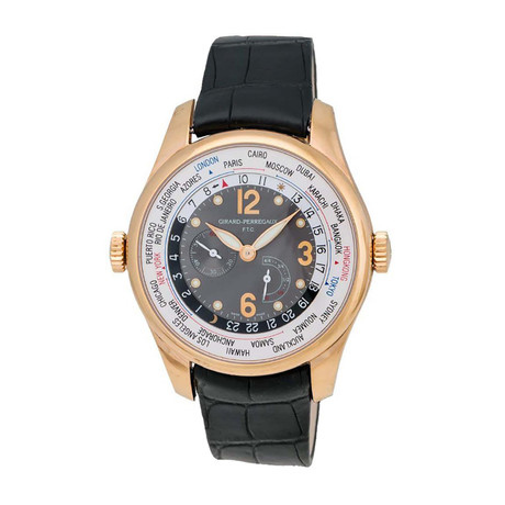 Girard Perregaux WW.TC Financial World Timer Power Reserve Automatic // 49850-52-254-BACA // Store Display