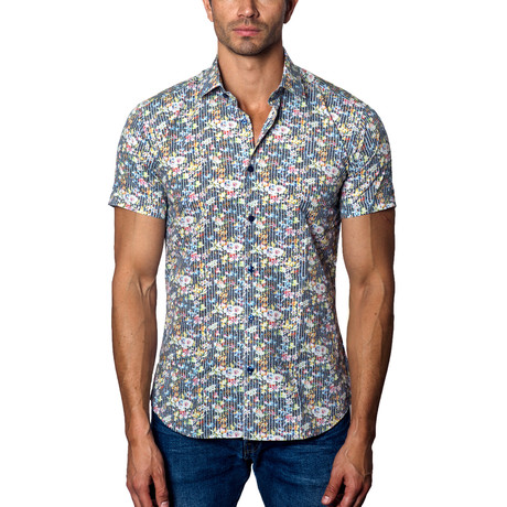 Short-Sleeve Button-Up // Multi (S)