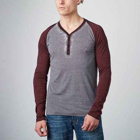 Kingston Henley Raglan // Charcoal