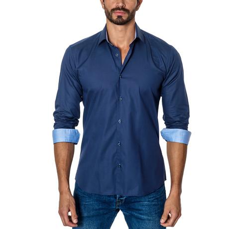 Long-Sleeve Button-Up // Dark Blue