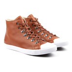 Full Hi-Top Sneakers // Brown (Euro: 45)