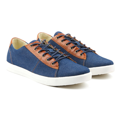 Damm Denim Low-Top Sneakers // Blue