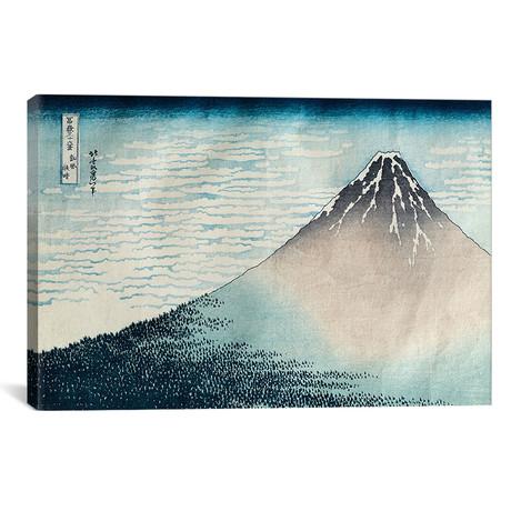 "Fine Wind, Clear Morning (Red Fuji) c.1830-32 (Musee Guimet) // Katsushika Hokusai (18""W x 12""H x 0.75""D)"