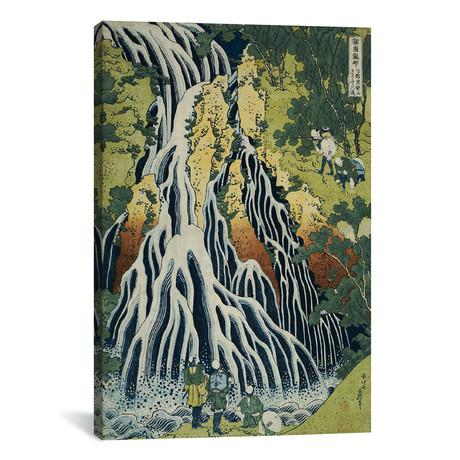 "The Kirifuri Waterfall At Mt. Kurokami In Shimotsuke Province (Private Collection) (12""W x 18""H x 0.75""D)"