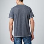 Short-Sleeve V-Neck // Black (S)