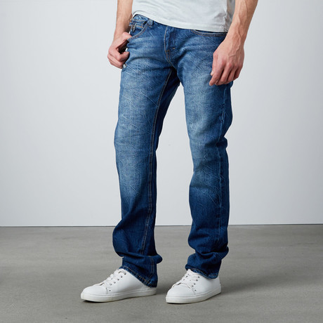Straight Leg Jean // Dark Blue (29WX32L)