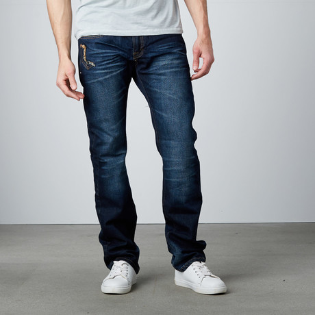 Straight Leg Jean // Dark Denim (29WX32L)